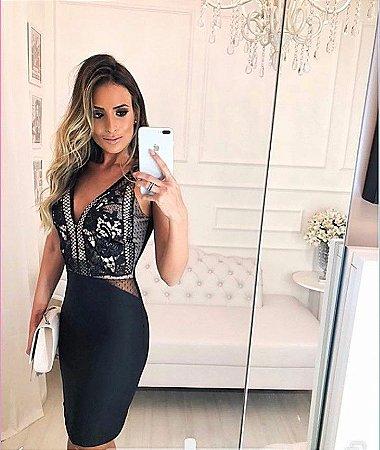 0d17bfccd Vestido de festa recortes tule - Looks da Milena para arrasar,looks ...