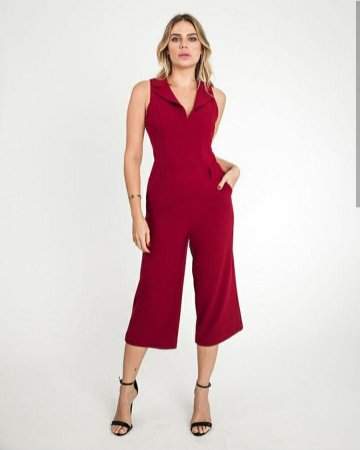 3c0806abd Macacão pantacourt em malha crepe - vermelho - Looks da Milena para ...