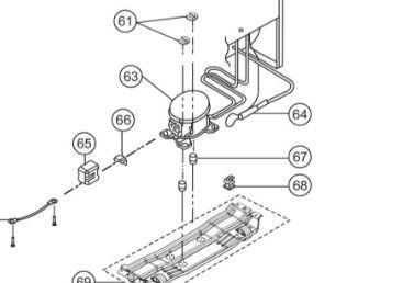 Compressor Inverter para Refrigerador Panasonic NR-BT51