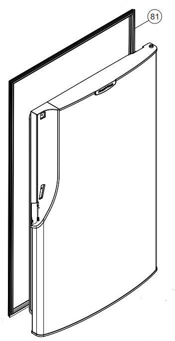 Borracha da porta do refrigerador PANASONIC NR-BT47