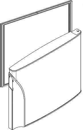 Borracha porta do freezer refrigerador PANASONIC NR-BT47