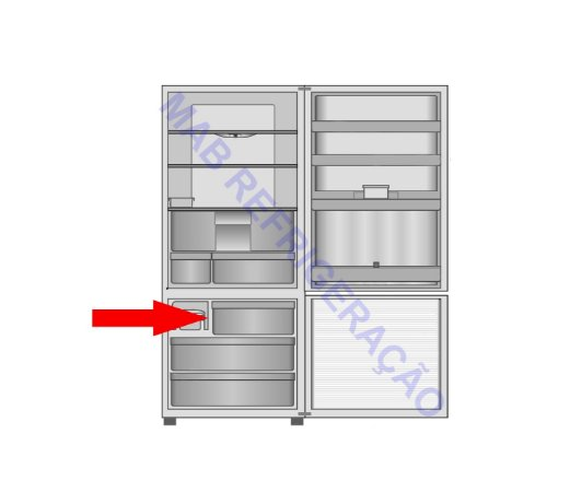 Gaveta superior Freezer PANASONIC NR-BB51 NR-BB52