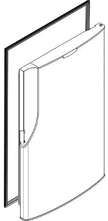 Borracha da porta do refrigerador PANASONIC NR-BT55