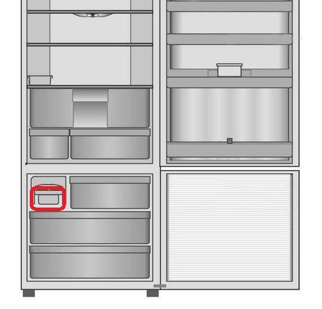 Gaveta de Gelo para Refrigerador Panasonic NR-BB53