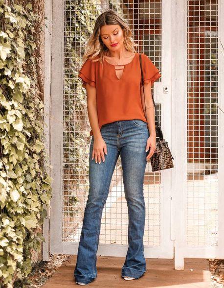 Jeans Flare Estonado