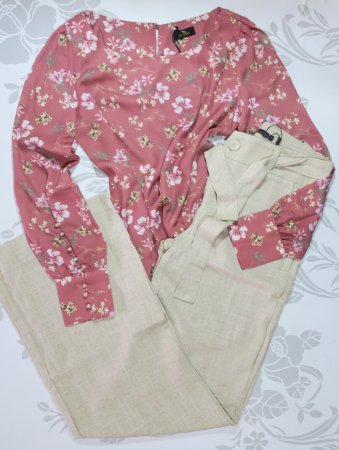 Blusa Floral Manga Longa
