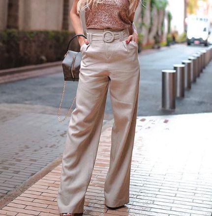 Pantalona Linho Cru