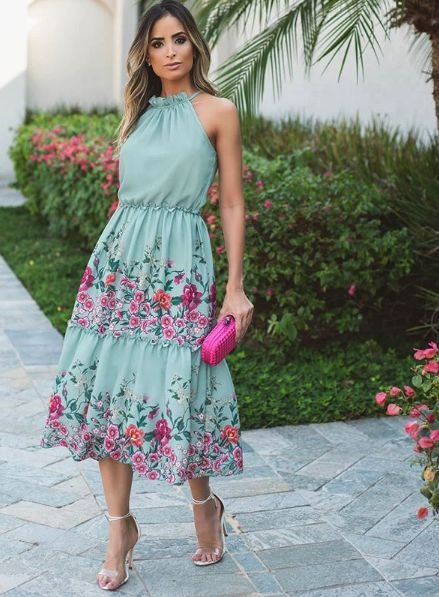 Vestido Floral Midi