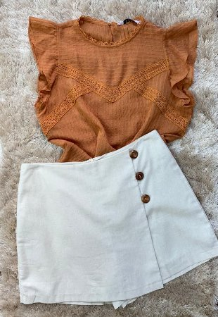 Shorts Saia Linho
