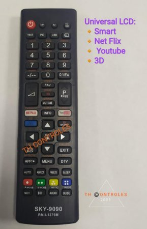 Controle Remoto para Tv Universal Lcd
