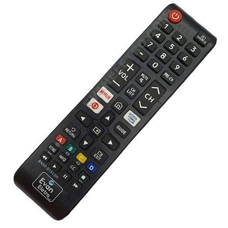 Controle Remoto para Tv Samsung Smart Netflix com Netflix  Prime vídeo e Globo Play