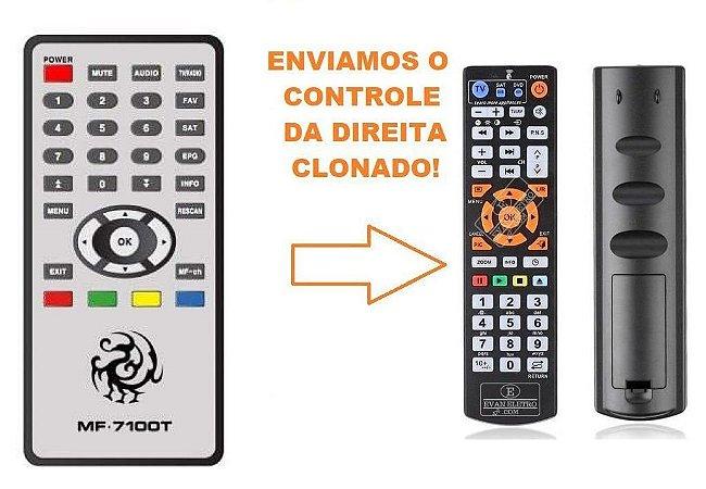 Controle Remoto Para Receptor Maxfly  MF-7100T / MF-7100Z / Rayo 3D3
