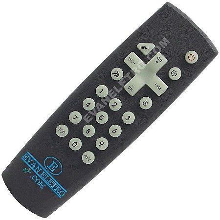 Controle Remoto TV SEMP Toshiba CT-7160 / CT-7180 / TVC-102 (Lumina Line)