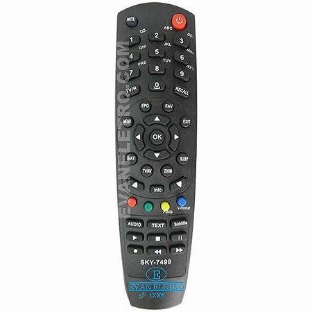 Controle remoto Para receptor SKY-7499 / LE-7499 / FBG-7499