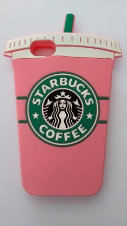 Capinha Capa Case Iphone 7 Starbucks 3d Rosa