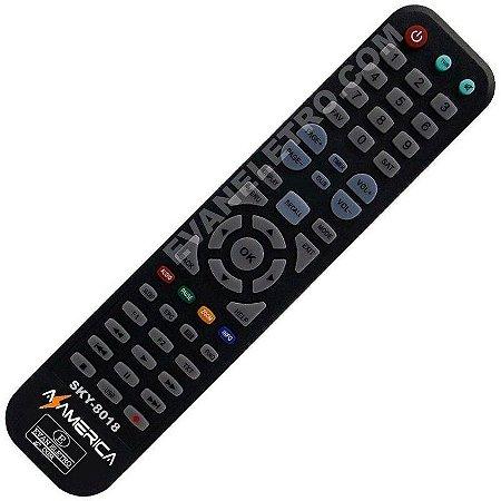 Controle Remoto Receptor AZAMERICA SKY-8018 / LHS 8018