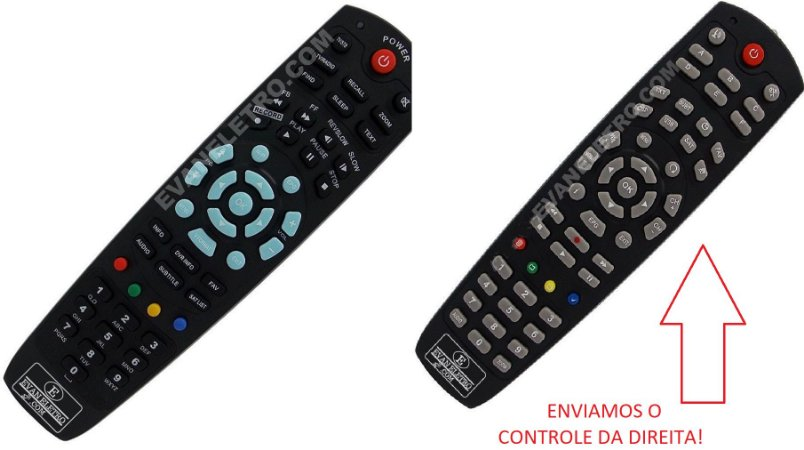 Controle Remoto Para Receptor Freesky Voyager VY-HD GPRS