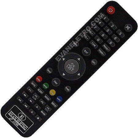 Controle Remoto Receptor Satbox Vivo X Plus