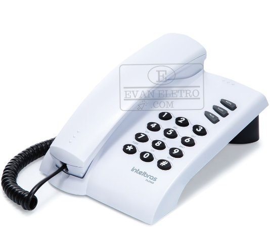 Telefone com Fio Intelbras Pleno sem chave Cinza
