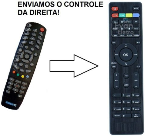Controle Remoto Para Receptor PRONET N90 MINI / PRONET N90 Lite