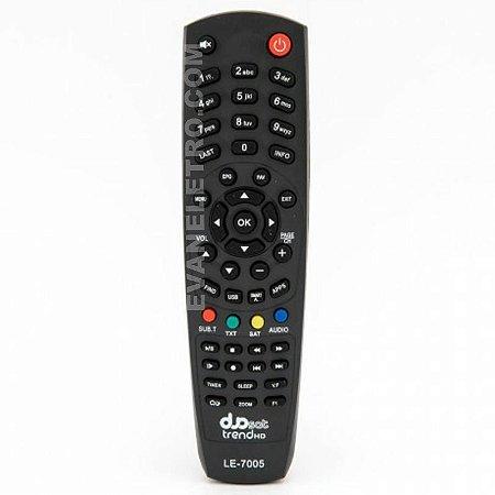 Controle remoto para receptor  LE-7005 / SkY-7491/ FBG-7491