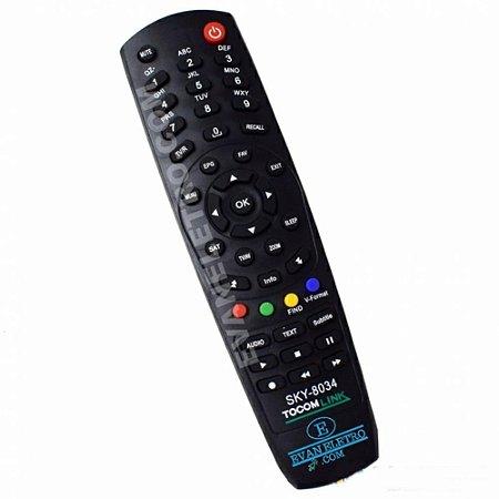 Controle remoto para receptor SKY-8034