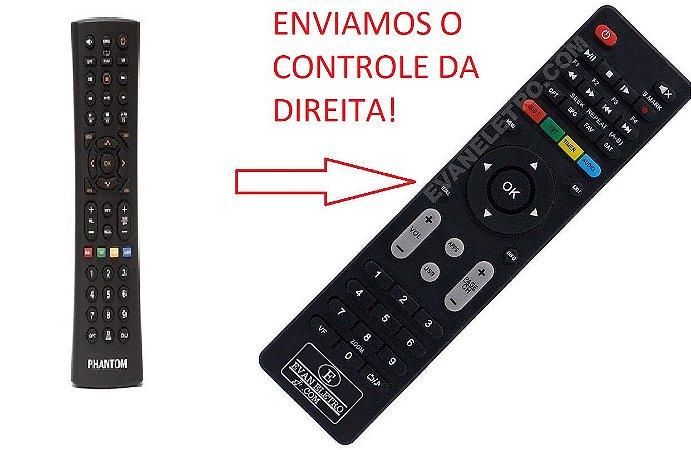 Controle Remoto Para Receptor Phantom Premium HD