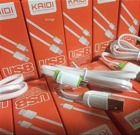 CABO DE DADOS e CARREGADOR V8 MICRO USB 1M - Original KAIDI 305