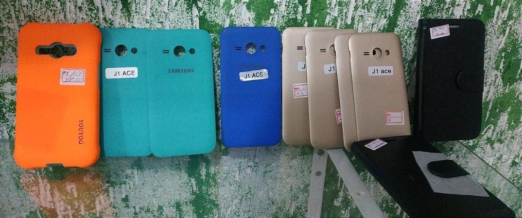 1 capa Samsung J1 Ace anti choque, carteira , tampa traseira J1 Ace (não serve no j1)