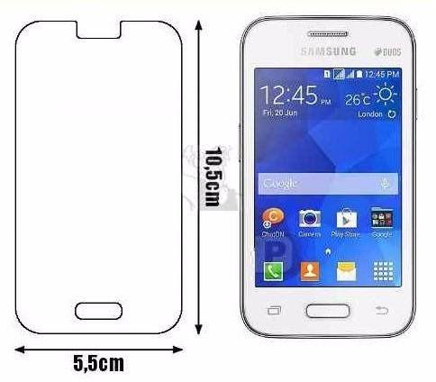 Pelicula Vidro Samsung Galaxy Young 2 G130 transparente.
