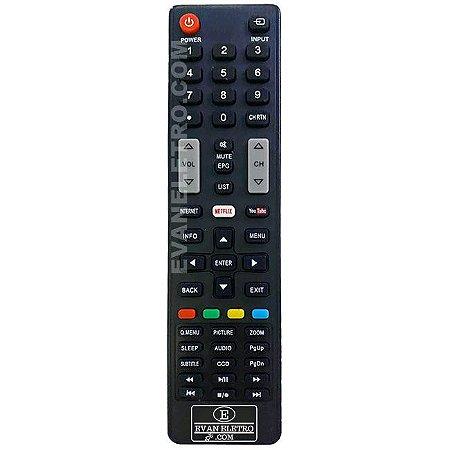 Controle Remoto TV LED SEMP TOSHIBA CT-8045 / 55L5400 / 55L7400 / Netflix e Youtube (Smart TV)