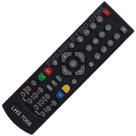 Controle Remoto para Receptor LHS 7068 ( A Z A M E R I C A) (C E N T U R Y)
