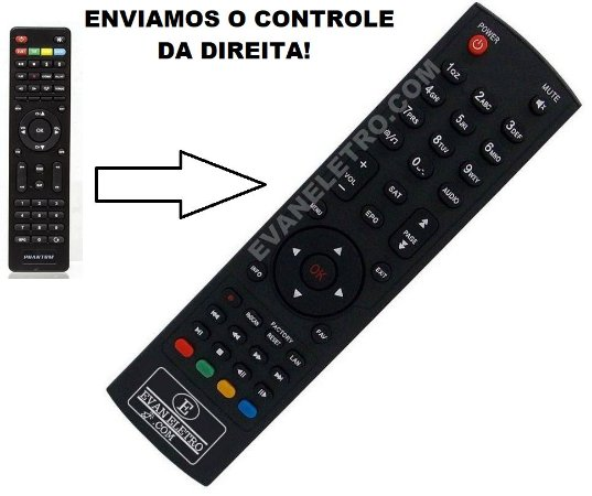 Controle Remoto Para Receptor PHANTOM BIOS