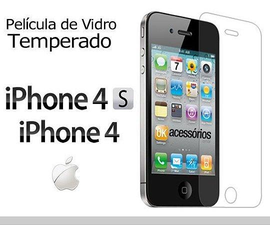 PELÍCULA DE VIDRO TEMPERADO PARA IPHONE 4 / 4S