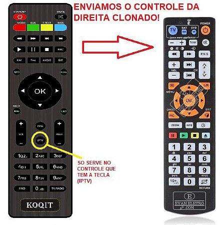 Controle Remoto para receptor KOQIT U2 DV3S2 IPTV