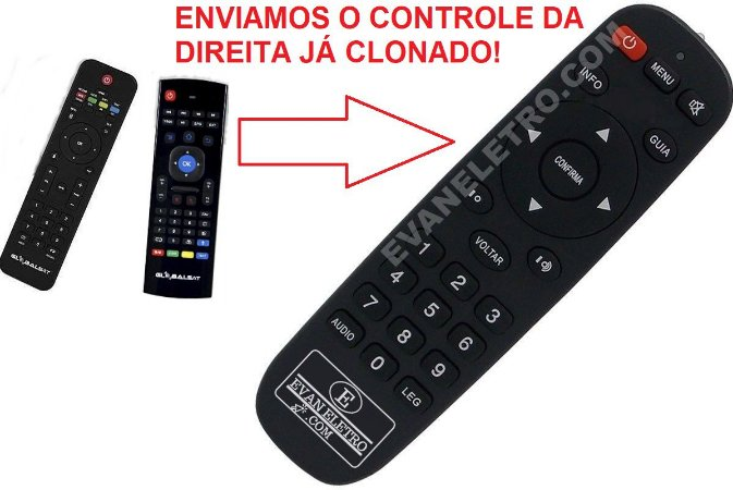 Controle Remoto para Globalsat Android GS-500 4k h265