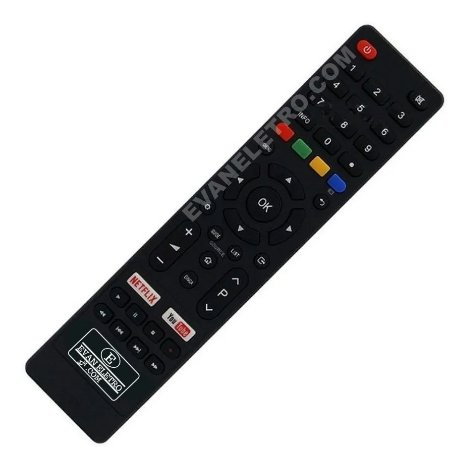 Controle Remoto TV LED Britânia BTV32G51SN / BTV40E63SN com Netflix e Youtube (Smart TV)