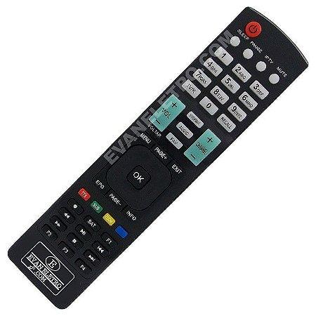Controle remoto Para receptor Azbox Bravoo Visor Azul (Enviamos o da primeira foto)