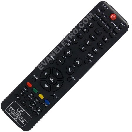 Controle Remoto Tv LCD LED H-buster HBTV-42D03FD / HBTV-3203HD / HBTV-42D01HD / 3603