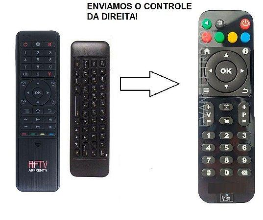Controle Remoto para Receptor AFTV ARFRENTV / AFTV X6 CLASSE