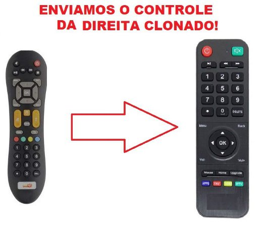 Controle Remoto Receptor Receptor GoTV / GO TV