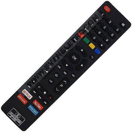 Controle Remoto TV LED Philco com Netflix / Youtube / Globo Play / Prime Vídeo (Smart TV)