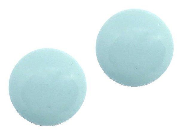 Brinco Camila Vanni Botão de Resina Azul Nuvem