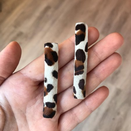 Brinco Animal Print Palito Leopardo