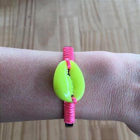 Bracelete buzios pink