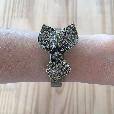 pulseira 3 petalas dourado