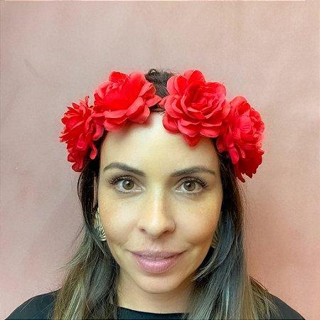 Coroa de Flor Vermelha