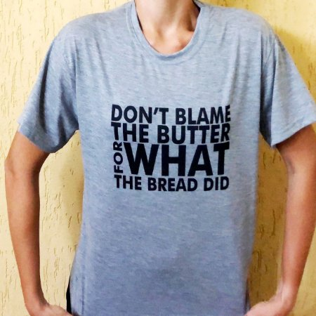 Camisa Don't Blame the Butter - Masculina Cinza