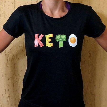 Camisa Keto - Baby Look Preta
