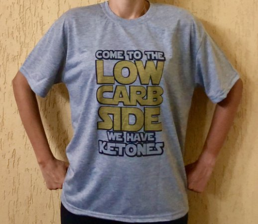 Camisa Come To The Low Carb Side - Masculina Cinza